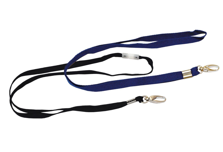 textilní pásek s karabinkou modrá, 10ks