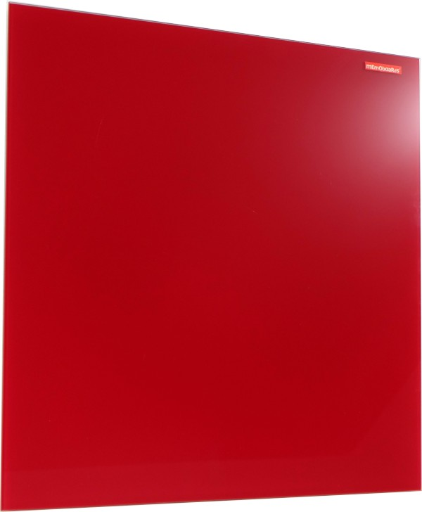 Skleněná magnetická tabule červená 45x45cm