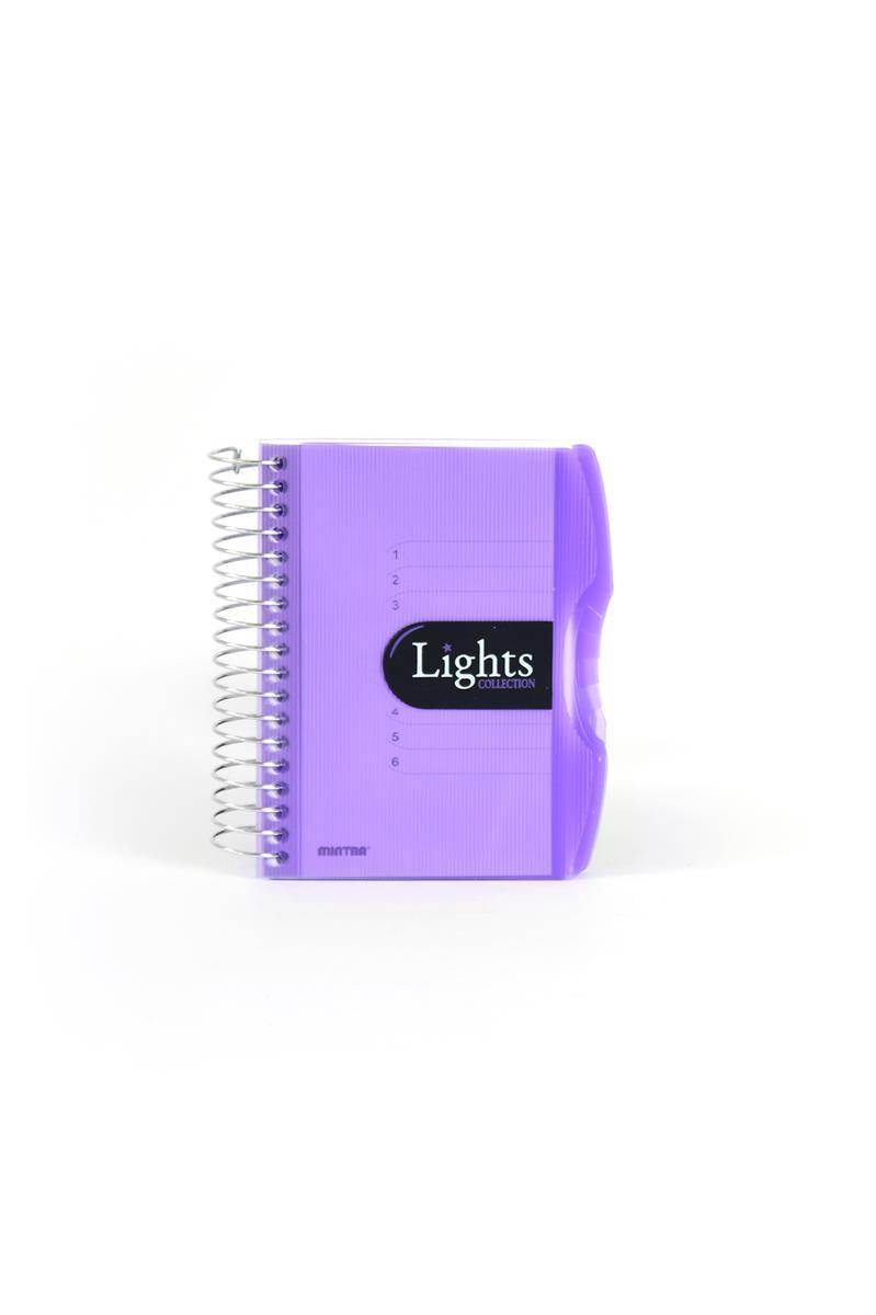 Pozn. blok A6, 150listů, linka, LIGHTSfialová