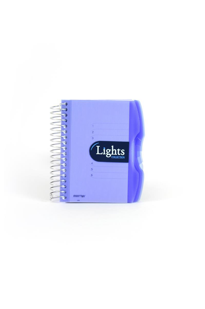 Pozn. blok A6, 150listů, linka, LIGHTSmodrá
