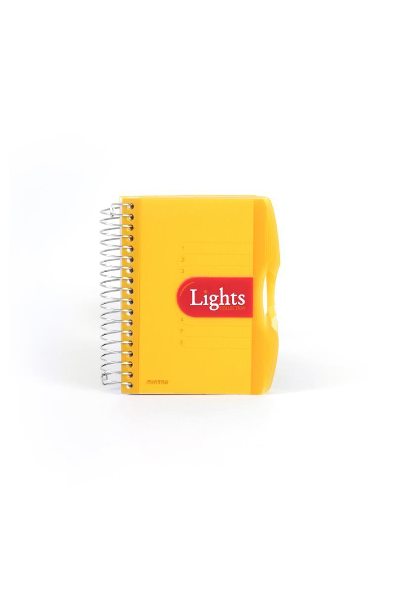 Pozn. blok A6, 150listů, linka, LIGHTSoranžová