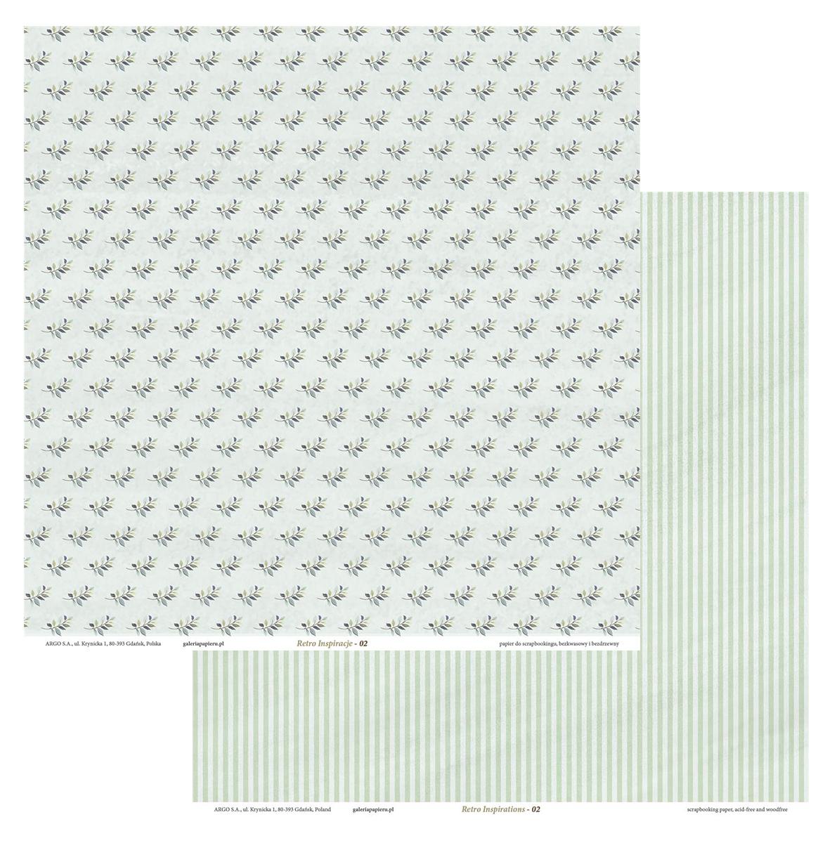 Galeria Papieru scrapbooking papír Retro Inspirace-02 200g, 5ks