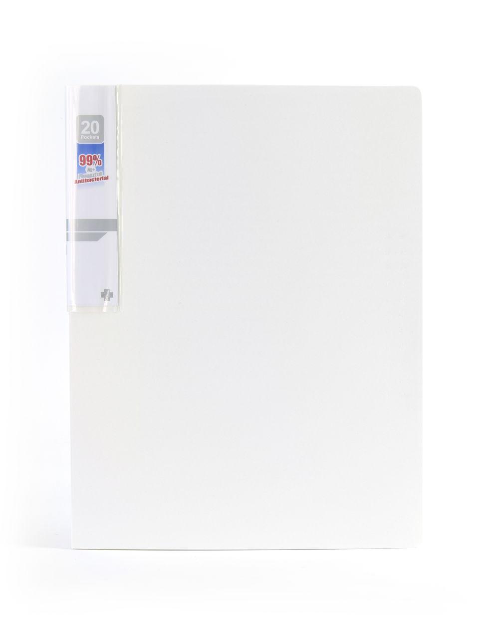 Desky na spisy ANTIBAKTERIÁLNÍ A4 bílá 20 kapes