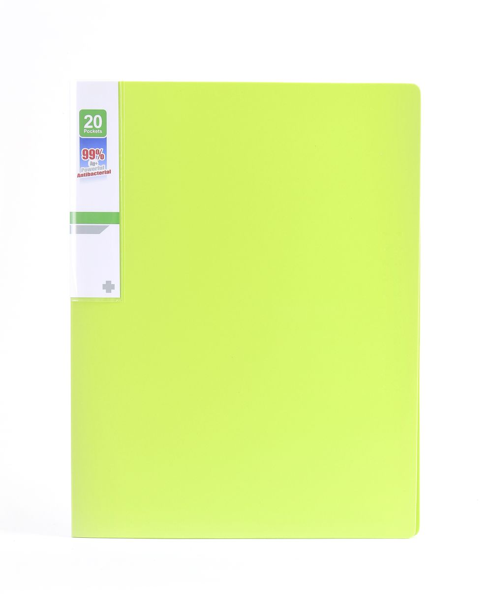 Desky na spisy ANTIBAKTERIÁLNÍ A4 zelená 20 kapes