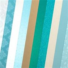 Galeria Papieru sada Modré tóny 210-250g, 10ks