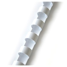 plastový hřbet 19mm bílá 100ks