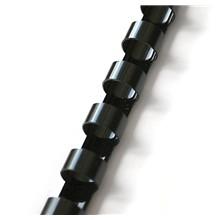 plastový hřbet 6mm černá 100ks