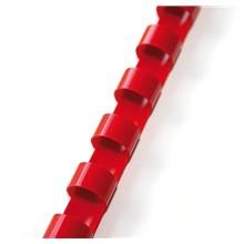 plastový hřbet 22mm červená 50ks