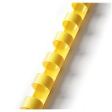 plastový hřbet 25mm žlutá 50ks