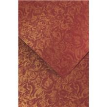 ozdobný papír Růže bordó 250g, 20ks