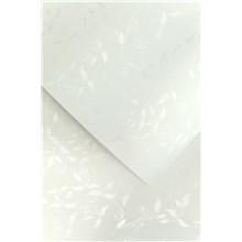 Galeria Papieru ozdobný papír Liana bílá 230g, 20ks