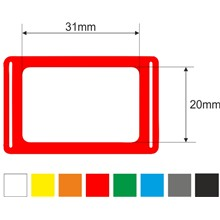 Kalendářová okénka 3p, 20x31, 310mm, červená, gumička