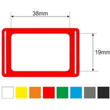 Kalendářová okénka 7p, 19x38, 345mm, červená, gumička