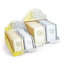 Poznámkový blok A5, 90listů, čtvereček, GOLDEN&SILVER, 40 ks