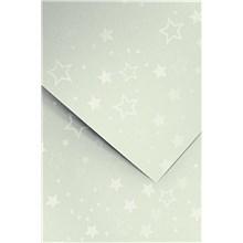 Galeria Papieru ozdobný papír Stars stříbrná 220g, 20ks