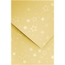 Galeria Papieru ozdobný papír Stars zlatá 220g, 20ks