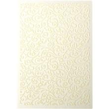 Galeria Papieru ozdobný papír Flock ivory 220g, 5ks