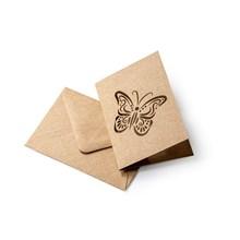 Galeria Papieru přání motýl s obálkou Kraft 70x100mm, 5ks