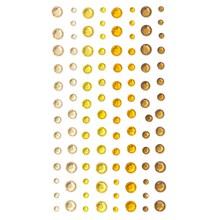 Samolepicí kamínky žlutá 3/4/5/6mm, 104ks