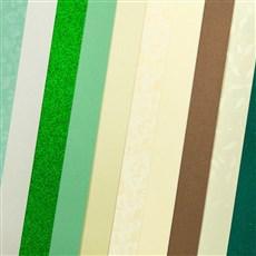 Galeria Papieru sada Elegantní zelená 210-250g, 10ks
