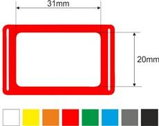 Kalendářová okénka 3p, 20x31, 300mm, červená, gumička
