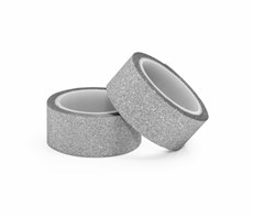 Třpytivá páska samolepicí stříbrná 2ks 15mm x 3 bm