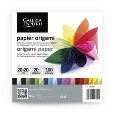 Galeria Papieru origami papír barevný 20x20cm, 100ks
