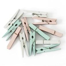 Kolíčky dřevěné pastel 47mm, 12ks