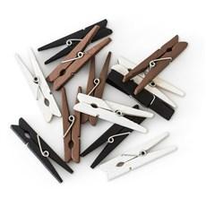 Kolíčky dřevěné natura 47mm, 12ks